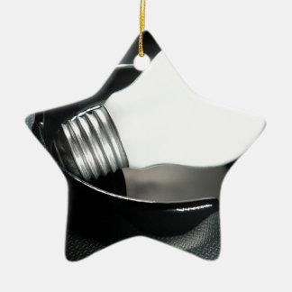 Energía ahumada adorno navideño de cerámica en forma de estrella