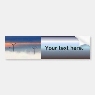 Energía alternativa - energía eólica en las nubes pegatina para auto