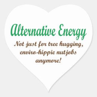 Energía alternativa pegatina en forma de corazón