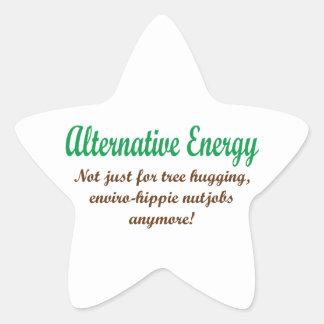 Energía alternativa pegatina en forma de estrella