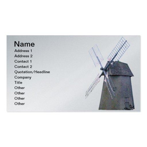 Energía alternativa - poder holandés del molino de tarjetas de visita