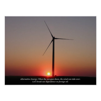 Energía alternativa: Viento y solar Póster