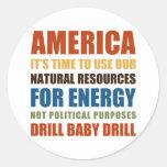 Energía americana pegatina redonda