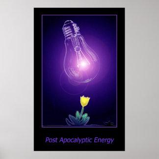 Energía apocalíptica del poste poster