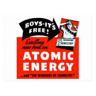 ¡Energía atómica del vintage del kitsch para los Postal