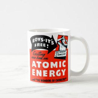 ¡Energía atómica del vintage del kitsch para los Taza