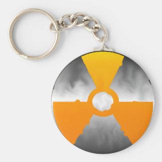 Energía atómica llavero redondo tipo pin