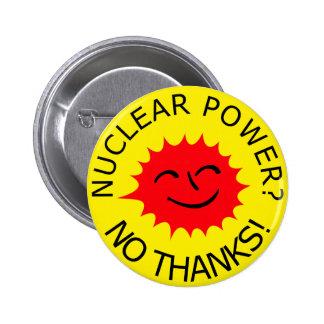 Energía atómica pin redondo de 2 pulgadas