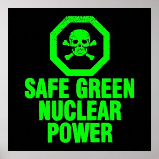 Energía atómica verde segura impresiones
