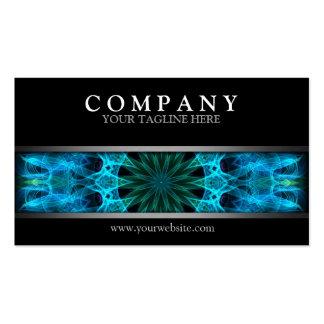Energía azul moderna tarjeta de visita