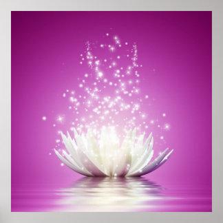 Energía curativa del zen de la yoga del curador de póster