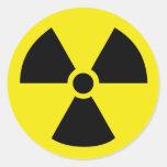 energía de átomo activa de radio pegatinas redondas