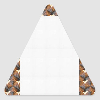 Energía de cobre oscura Chakra - añada el texto o Pegatinas Trianguladas