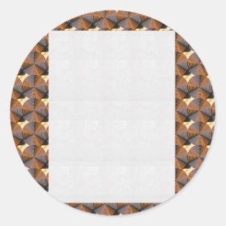 Energía de cobre oscura Chakra - añada el texto o Etiqueta Redonda