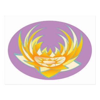Energía de Goodluck HolyPurple Lotus Tarjetas Postales
