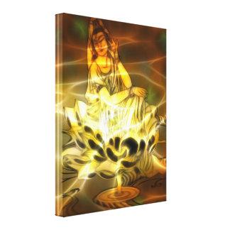 Energía de Guan Yin Lona Estirada Galerias