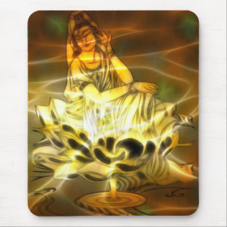 Energía de Guan Yin Alfombrillas De Ratón