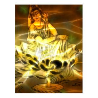 Energía de Guan Yin Postales