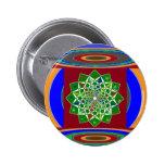 Energía de la rueda de la FLOR CHAKRA: Verde esmer Pin