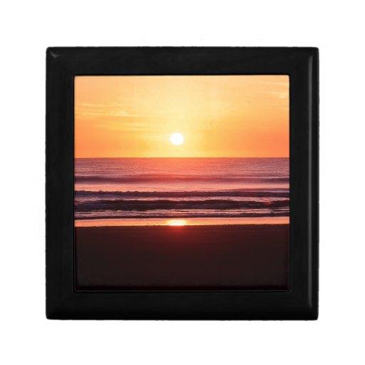 Energía de la vida de la playa caja de joyas