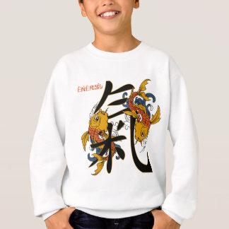 Energía de los pescados de Koi del kanji Remera