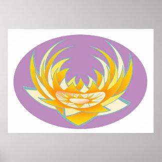 Energía de LOTUS en caja púrpura santa Poster