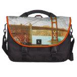 energía de puente Golden Gate del vintage en San F Bolsas De Portatil