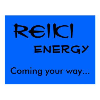 Energía de Reiki, viniendo su manera… Tarjetas Postales