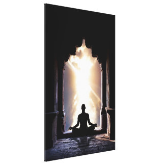 Energía del chakra de la yoga de la meditación de  impresión en lona