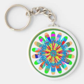 Energía del color: Inspiración del girasol Llavero Redondo Tipo Pin