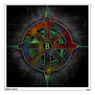 Energía del espiritual de la rueda de Dharma Vinilo