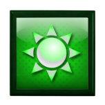 Energía del sol del verde del icono de Giftbox Caja De Regalo