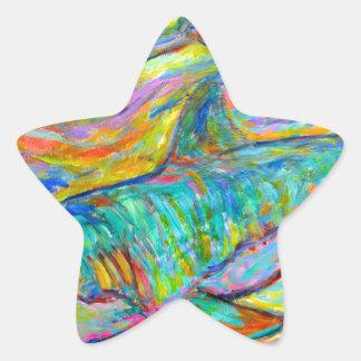 Energía del tiburón calcomanias forma de estrella
