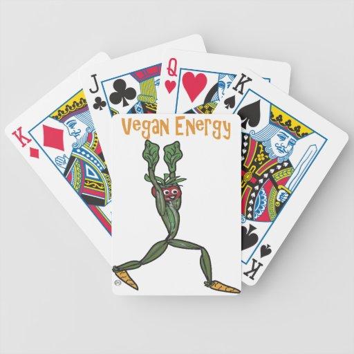 Energía del vegano baraja cartas de poker