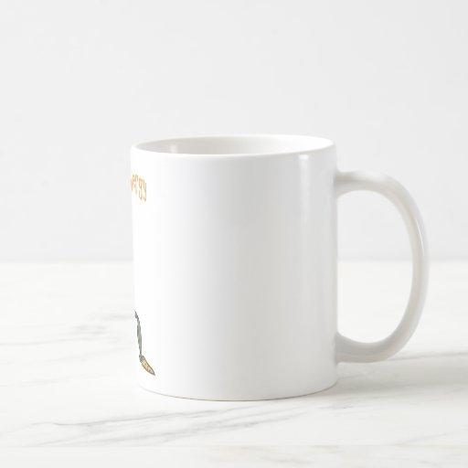 Energía del vegano tazas de café