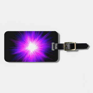 Energía divina del reiki curativo púrpura de la ll etiquetas de equipaje