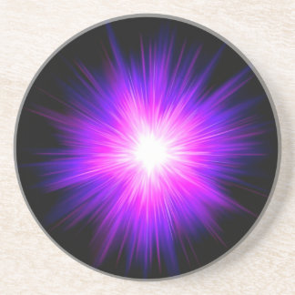 Energía divina del reiki curativo púrpura de la ll posavasos de arenisca