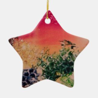 Energía en las piedras adorno navideño de cerámica en forma de estrella