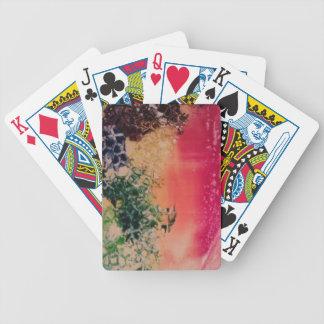Energía en las piedras barajas de cartas