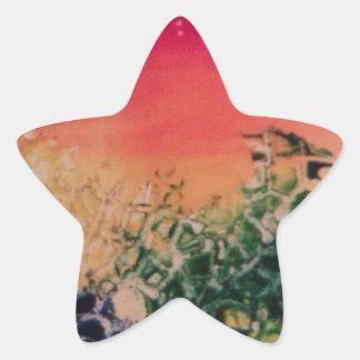 Energía en las piedras pegatina en forma de estrella