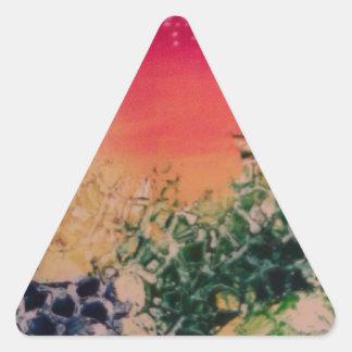 Energía en las piedras pegatina triangular