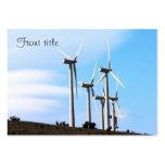 Energía eólica (2) tarjetas de visita grandes