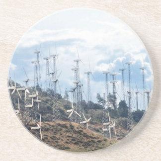 Energía eólica (3) posavasos de arenisca