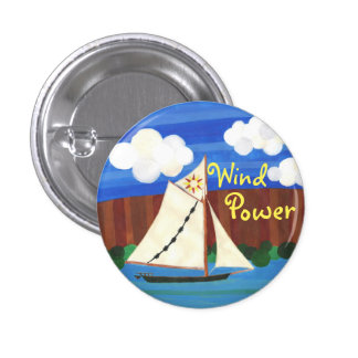 Energía eólica - Clearwater Pin Redondo De 1 Pulgada
