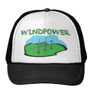 Energía eólica - diseño de la camisa de la energía gorros