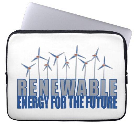 Energía eólica fundas ordendadores