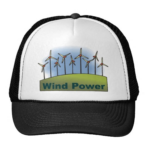 Energía eólica gorra
