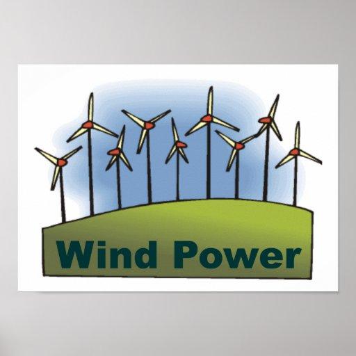 Energía eólica impresiones