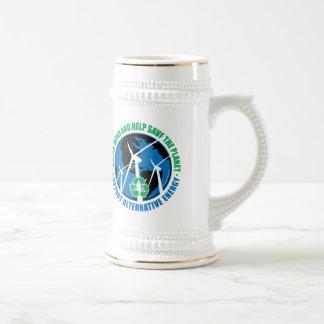 Energía eólica jarra de cerveza