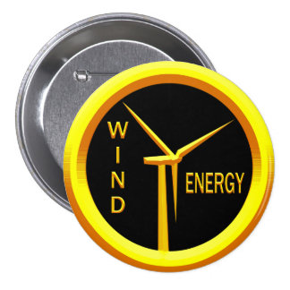 Energía eólica pin redondo de 3 pulgadas